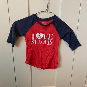 Girls 4T St. Louis Cardinals 3/4 sleeve shirt